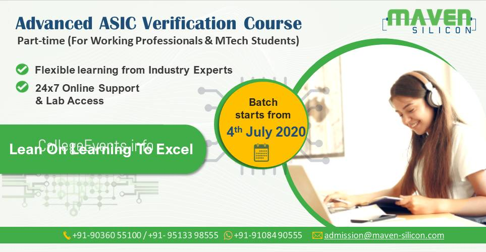 Advanced ASIC Verification Course - Part-time